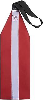 ADAGG Segling säkerhetsvarning flagga med reflekterande remsa sadelväv, röd kajak säker signalflagga för kajaker kanoter S...