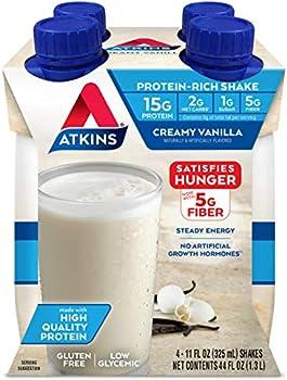 4-Count Atkins Gluten Free Protein-Rich Shake, Creamy/French Vanilla