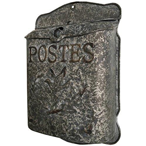 Brievenbus met letters, brievenbus van zink voor wandmontage