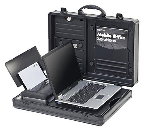 DICOTA DataDesk 100 14-15.1 Attachékoffer für Notebook und HP OJ 100 Drucker