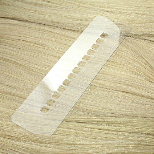 Just Beautiful Hair Schablone zum Anbringen von Keratin-Extensions - groß - Bonding-Extensions, Haarverlängerung, U-Tip Keratin Bondings