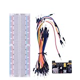 Dengc Conectores MB102 Placa de Pruebas y módulo de alimentación y 65 Piezas Kit de electrónica de Placa de Pruebas para Raspberry Pi 3-Multicolor