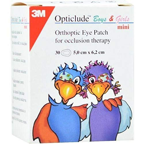 3M Opticlude Orthoptic Eye Patches for Boys & Girls, Mini Range, 5cm x 6.2cm, Pack of 30