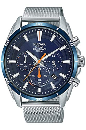 Pulsar Active Herren Uhr analog Solar mit Edelstahl Armband PZ5085X1