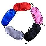 SGirll 5PCS Silk Soft Sleep Eye Mask Sleeping Eye Blindfold Car Train Travel Eyeshade