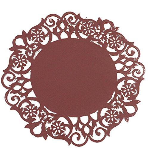 sunnymi Spitze Hohlsilikon Coaster 🌸 Blumen Deckchen Isolierung Tischset ,Silikon Coaster Tee Tasse Matten Pad (B, 10*0.15cm)