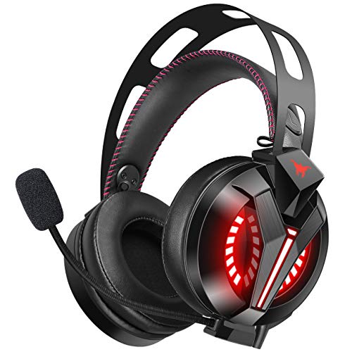 PS4 Headphones - ONIKUMA PS4 Gaming Headphone with 7.1 Surround Sound, Xbox One Headset with Noise Canceling Mic, Over-Ear Headphones for PS4