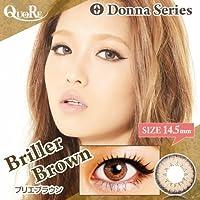 カラコン 度なし 1箱2枚入り QuoRe Donna Series/ソブレ/119132 14.5mm【BrillerBrown--0.00】