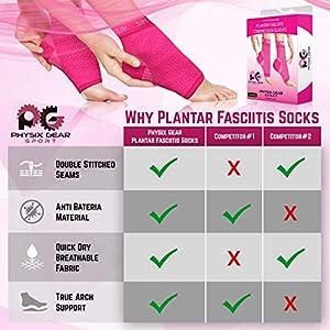 Physix Gear Sport - Calcetines con Arco para Fascitis Plantar