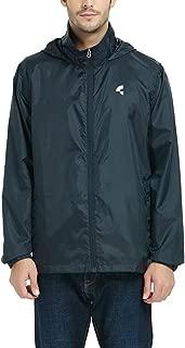 Men's Waterproof Lightweight Rain Jacket Active Outdoor Hooded Raincoat S-5XL