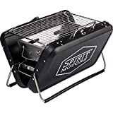 Spirit Motors Mini Tisch Grill, Unisex, Multipurpose, Ganzjährig, Edelstahl, schwarz