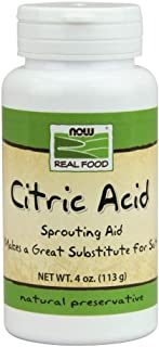 NOW Foods, Citric Acid, Sprouting Aid, Great Substitute for Salt, Preservative Found in Citrus Fruits, 4-Ounce
