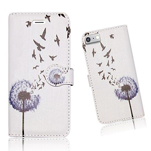 DANDELION MAGIC FLOWER FLORAL CLASSIC BIRDS STYLISH PU LEATHER WALLET BOOK...