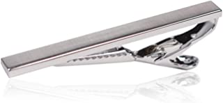 Tie Clip by Mark Ross - Brushed Silver Tone Tie Bar Clip for Men with Premium Giftbox Packaging 2.25