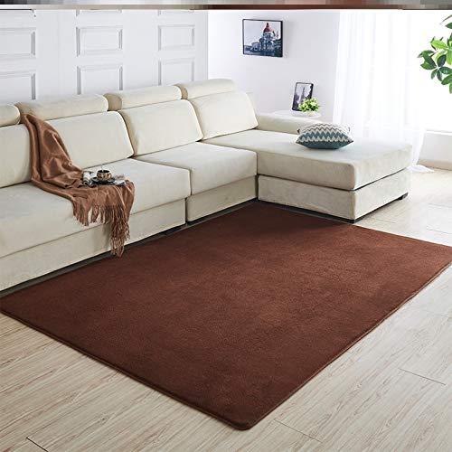 Stafeny Alfombra de felpa, insonorizada y a prueba de golpes, adecuada para deportes de interior, decoración de sala de estar (160 x 100 cm)