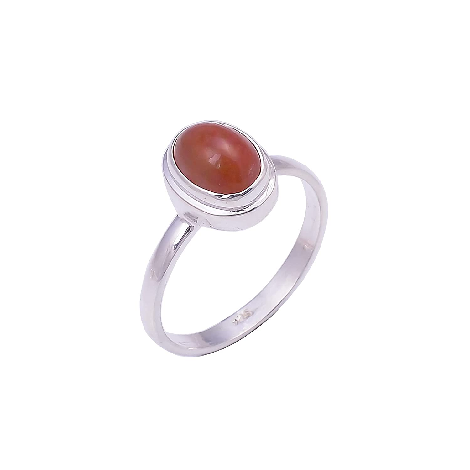 925 Sterling Silver Ring Size US B Indianapolis Mall Opal Ranking TOP13 Gemstone Ethiopian 5.75