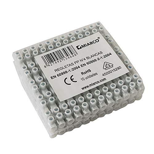 Miarco M234821 - Regleta conexion electrica homologada 4 mm blanca