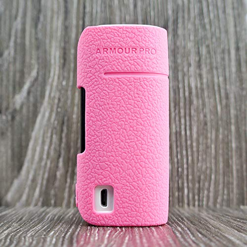 CEOKS for Vaporesso Armour Pro 100W Silicone Case, Anti-Slip Protective Silicone Case Skin Rubber Cover for Vaporesso Armour Pro TC Mod Box Rubber case wrap Shield (Pink)