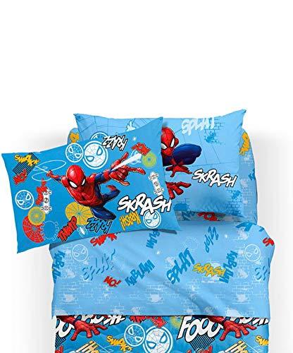 EFFETTO CASA beddengoedset voor kinderkamer/meisjes Disney Spiderman man wall