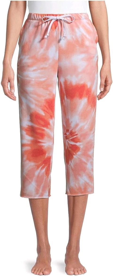 Secret Treasures Tie Dye Desert Sunset Lounge Sleep Cropped Pants