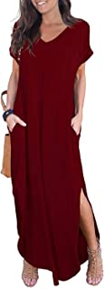 Women's Casual Maxi Dresses Beach Cover Up Short Sleeve...