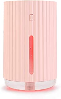 Whole House Humidifiers USB Humidifier Mini Mute Home Air Purifier Bedroom Dormitory Student Small Office Desktop Portable Spray Pregnant Baby Aromatherapy Machine Aroma humidifier (Color : Pink)