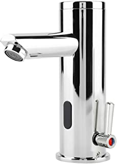 Yosoo Automatic Infrared Sensor Faucet, Zinc Alloy Smart Touchless Sink Faucet Kitchen Bathroom Water Tap (Type of 2)
