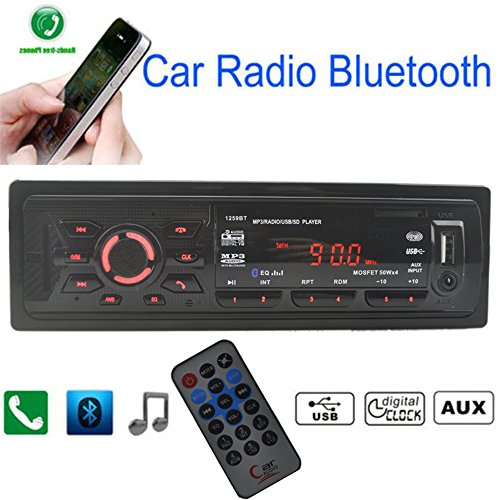 Boomboost Car Radio Stéréo Bluetooth FM MP3 / USB/SD/AUX/EQ/Mains Libres/Télécommande