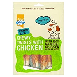 Armitage code 05592 Highly palatable No artificial colours or flavours Made with 100% chicken breast meat Low in fat