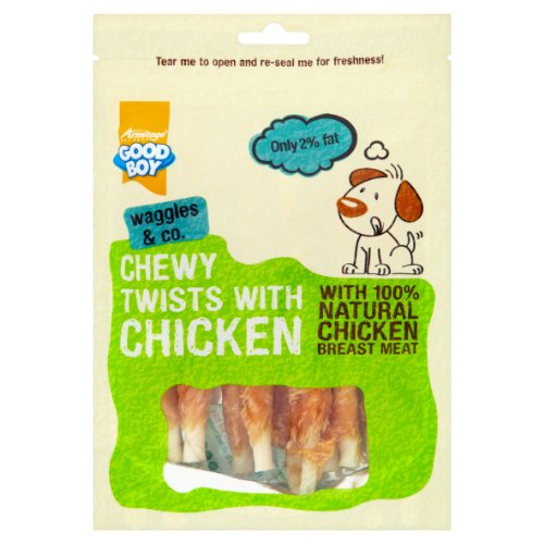 Good Boy Chewy Twisters with Real Chicken