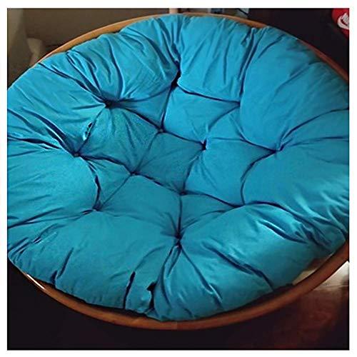 Cuscino per sedia a dondolo da appendere a forma di uovo, rimovibile, per sedia papasan, lavandino nel nostro spessore e comodo e oversize Papasan blu diametro 3'9