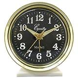 BananaBus 12020 Wind-Up Bell Brass Metal Case Analog Alarm Clock