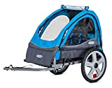 Instep Bike Trailer for Kids, Single and Double Seat, Single Seat, Blue