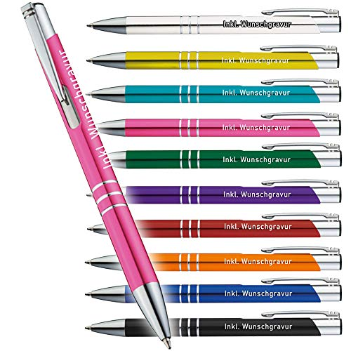 Kugelschreiber mit Gravur,Scotty' - personalisierbar - hochwertige Kugelschreiber - 1-2 Tage Lieferzeit - Your Gravur -, Anzahl:25