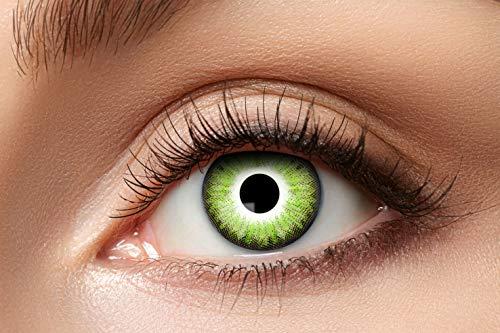 Eyecatcher 84079341-a85 - Natürliche Farbige Kontaktlinsen, 1 Paar, für 12 Monate, Hellgrün, Karneval, Fasching, Halloween