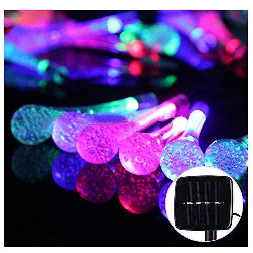 Decking Patio LightingSolar Light Post 30 LED-Leuchten, bunt, 6,5 m, lang, Outdoor, wasserdicht, Drop Lamp String für Garten, Garten, Garten, Patio, Blumen, Partys