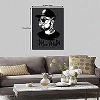 Mac Miller 壁飾り ポスター 現代壁の絵 アートパネル インテリア 部屋飾り お風呂 アートフレーム 家の壁の装飾画