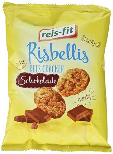 reis-fit Risbellis Reis Cracker Schokolade , 4er Pack (4 x 40 g)