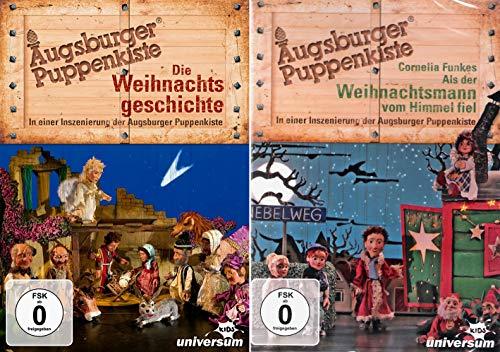 Augsburger Puppenkiste: Die Weihnachtsgeschichte + Als der Weihnachtsmann vom Himmel fiel im Set (2 DVDs)