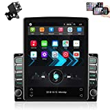 9.7 Inch Android Car Stereo Radio Double Din Touchscreen with Backup Camera Bluetooth GPS Navigation in-Dash Headunit Support FM Radio WiFi Tethering Internet SWC Mirror Link Dual USB