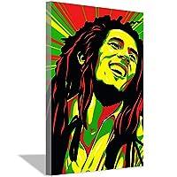 ボブマーリーポスター、レゲエミュージックゴッドファーザーシンガーポスター、壁画印刷インテリアアートギフト20x30cm(8x12inch)内枠