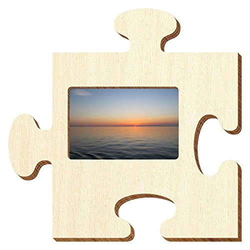 Bütic Sperrholz Foto Puzzle Bilderrahmen naturbelassen, Größe:Foto quer 9x13cm