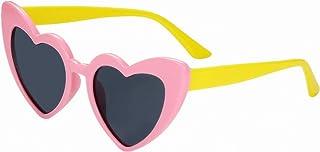Aroncent - Trendy - Gafas de Sol para niñas de 2 a 6 años con Forma de corazón