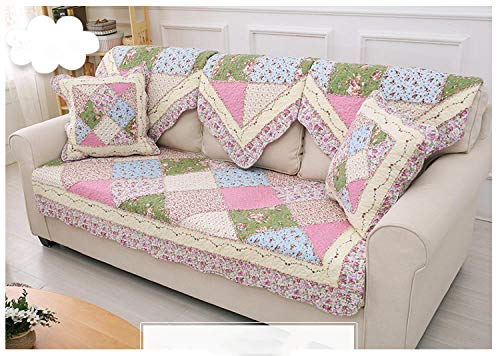 B/H Funda para sofá Antideslizante Moderno y Simple,Cojín de sofá de Tela de algodón Puro Antideslizante,Toalla de sofá Lavable a máquina_110×110cm,Funda Sofa Suaves Resistentes
