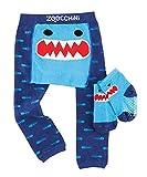 Zoocchini Set Leggings e Calzini Anti-scivolo bebè 12-18 mesi