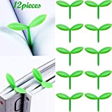 Sprout Little Green Bookmarks Mini Green Sprout Bookmarks Silicone Grass Buds Bookmarks Creative Gifts for Bookworm Book Lovers Reading (12)