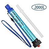 Parsion Filtro de Agua Portatil 2000L Filtro Agua Personal 0.01 Micron, Elimina 99.99% de Bacterias y Protozoos, Purificador de Agua Emergencia para Campamento Acampada Montaña y Supervivencia