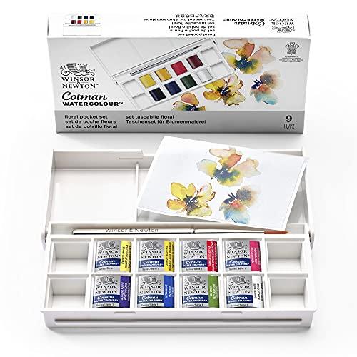 Winsor & Newton Cotman Watercolor Paint Set, Floral