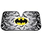 BDK Batman DC Comics Warner Brothers Official Licensed Front Windshield Sun Shade-Accordion Folding Auto Sunshade for Car Truck SUV-Blocks UV Rays Sun Visor Protector-Keep Your Vehicle Cool- 58 x 27 Inch (WBAS-1301)