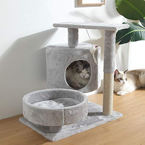 QAZWSX Árbol de Gato Gato molienda Garra Juguete Vertical Gato rasguño Poste práctico Cat Marco de Escalada,3